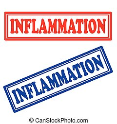 Inflammation-stamps - Set of stamps with text...