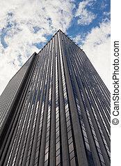 Skyscraper low angle view in New York City