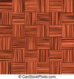 Checkered Wooden Floor