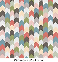 Abstract retro geometric seamless pattern with arrows