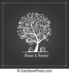 Bakery shop, tree concept for your design