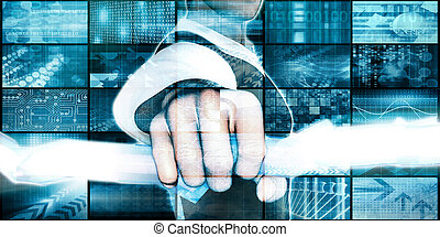 International Company with Technology Background as Art