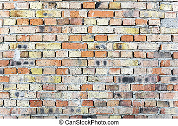Red brick wall. - Red old brick wall abstract background...