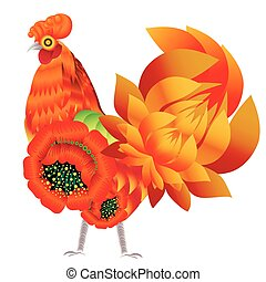Abstract decorative rooster