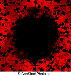 Sniper Scope Red Cells - Red cells frame or border with...