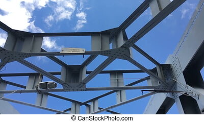 The iron design against the blue sky HD