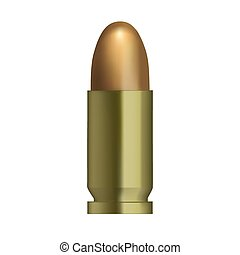 bullet isolated - This is an illustration of bullet isolated