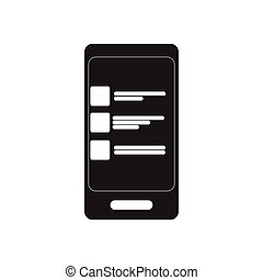 Flat icon in black and white SMS message - Flat icon in...
