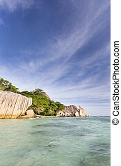 Anse Source DArgent, La Digue, Seychelles - Perfect white...