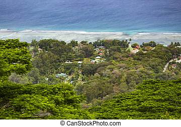 La Digue Coastline, Seychelles - View from the highest point...
