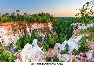 Providence Canyon in Georiga - Providence Canyon in...