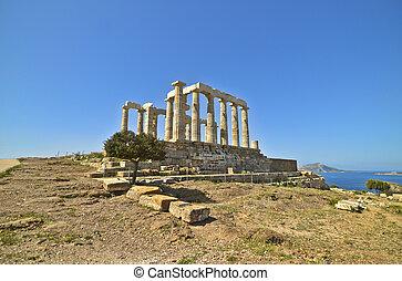 Poseidon, Templo, Grécia