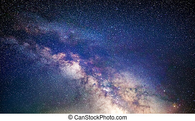 Milky Way in the Northern hemisphere - Milky Way galaxy, the...
