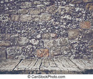 Brick Wall with Retro Filter