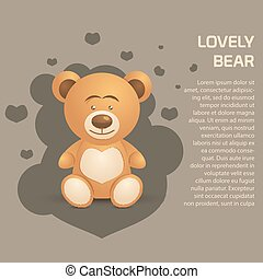 Cute and Lovely Bear illustration