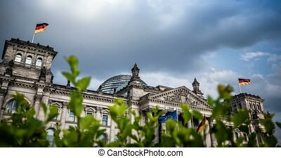 4K, Time Lapse, Reichstag Building, Berlin