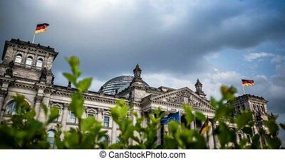 4K, Zeit, FEHLER, Reichstag, Gebäude, berlin,