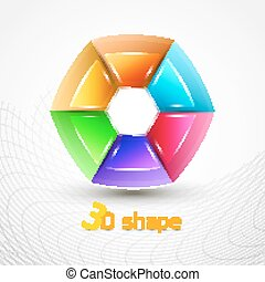 3d Shape Abstract icon