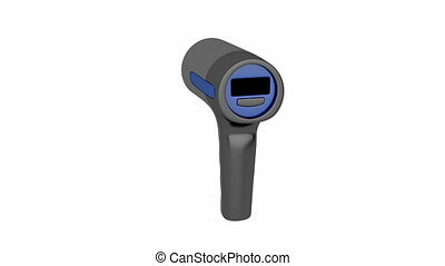 Radar speed gun on white background