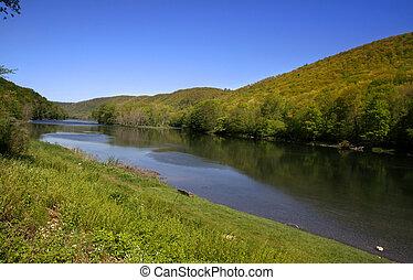 Spring in Pennsylvania - Scenic landscape in Allegheny...