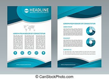 Business brochure flyer design template A4 size Vector...