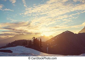 MtBaker Area - MtBaker recreation area, Washington, USA