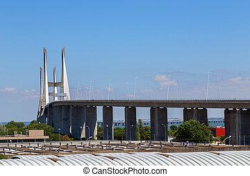 bridge the Vasco da Gama on river Tejo