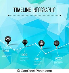 Infographic timeline design, concept - template with points....