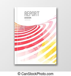 Business design template Cover, brochure, report, book,...