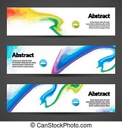 Set of polygonal vector banners backgrounds for modern...
