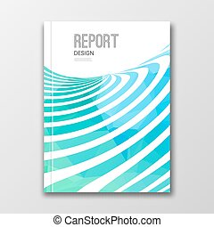 Business design template. Cover, brochure, report, book,...