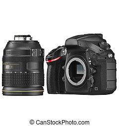 DSLR camera, optical lens - DSLR camera with optical lens...