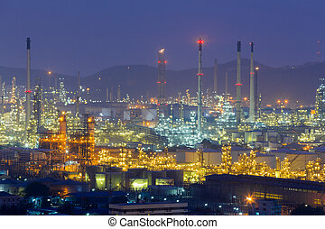 Aerial view, Oil refinery
