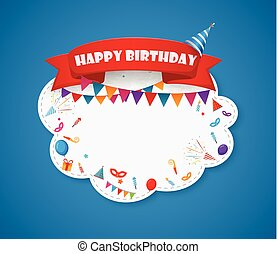 Birthday party design with cloud