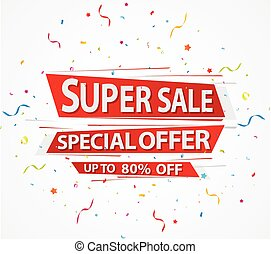 Super Sale and special offer paper