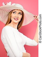 summer lightness - Portrait of a beautiful smiling woman in...