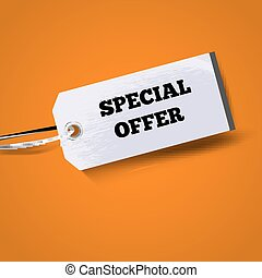 Special Offer - Vector Paper tag sticker