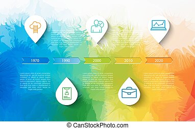 Infographic timeline design concept - template with points...