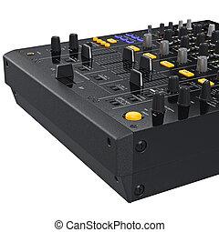Control panel buttons dj mixer, close view