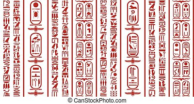 Egyptian hieroglyphic writing - Ancient Egyptian...