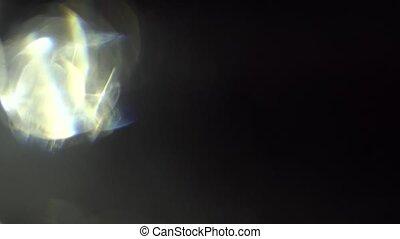Light Leaks on Black Background - Moving organic light leaks...