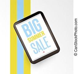 Realistic mobile devises with Big sale inscription.