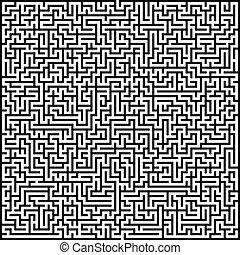 Abstract vector maze of high complexity