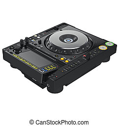 Mixer dj turntable, digital display - Black dj mixer...