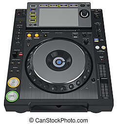 Digital dj music turntable mixer with buttons control...