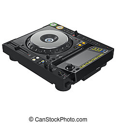 Dj mixer turntable, digital display - Black dj mixer...