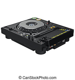 Mixer dj music table, digital display - Black dj mixer music...