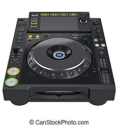 Digital dj turntable mixer with buttons control parameters...