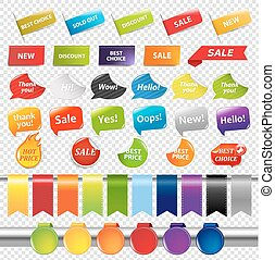 Set Of Color Sale Stickers And Labels