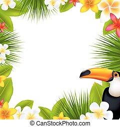 Tropical Frame With Frangipani